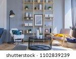 elegant fashionable interior of ... | Shutterstock . vector #1102839239