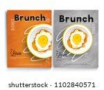 brunch cook book or recipe book ... | Shutterstock .eps vector #1102840571