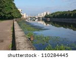 River Pregel in Kaliningrad - stock photo