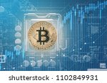 gold bitcoin electronic... | Shutterstock . vector #1102849931