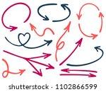 hand drawn diagram arrow icons... | Shutterstock .eps vector #1102866599