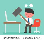 angry businessman carrying... | Shutterstock .eps vector #1102871714