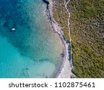 aerial view of the path of... | Shutterstock . vector #1102875461