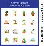 icon set of houseplants.... | Shutterstock .eps vector #1102875575