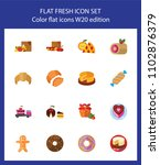 icon set of bakery and... | Shutterstock .eps vector #1102876379
