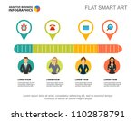 four workers process chart...   Shutterstock .eps vector #1102878791