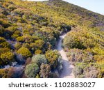aerial view of the path of...   Shutterstock . vector #1102883027