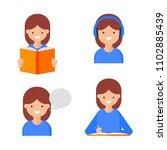 reading  writing  speaking ... | Shutterstock .eps vector #1102885439