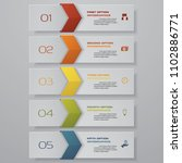 design clean number banners...   Shutterstock .eps vector #1102886771