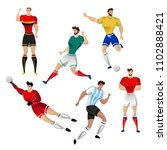 football players from argentina ... | Shutterstock .eps vector #1102888421