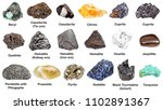set of various minerals with... | Shutterstock . vector #1102891367