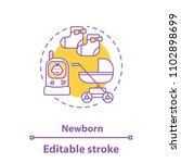 childcare concept icon. newborn ... | Shutterstock .eps vector #1102898699