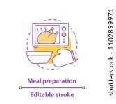 food preparation concept icon.... | Shutterstock .eps vector #1102899971
