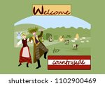 welcome to countryside.summer... | Shutterstock .eps vector #1102900469