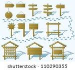 set of wood board billboards...   Shutterstock .eps vector #110290355