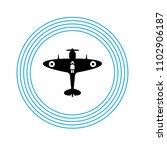 world war ii airplane fly... | Shutterstock .eps vector #1102906187