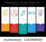 5 vector icons such as sn ... | Shutterstock .eps vector #1102908404