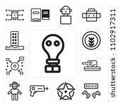 set of 13 icons such as gas... | Shutterstock .eps vector #1102917311