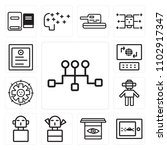 set of 13 icons such as server  ...