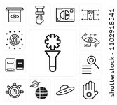 set of 13 icons such as filter  ...