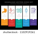 5 vector icons such as...   Shutterstock .eps vector #1102919261