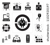 set of 13 icons such as circuit ...