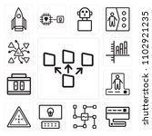 set of 13 icons such as file...