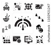 set of 13 icons such as meter ...