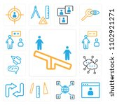set of 13 icons such as seesaw  ...