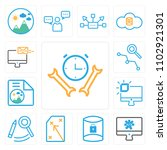 set of 13 icons such as... | Shutterstock .eps vector #1102921301