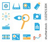 set of 13 icons such as zoom ...