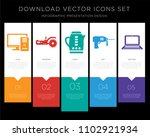5 vector icons such as tools... | Shutterstock .eps vector #1102921934