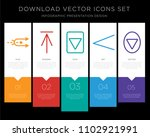 5 vector icons such as shuffle  ...