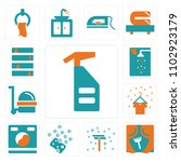 set of 13 icons such as spray ...