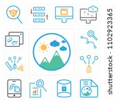 set of 13 icons such as image ...