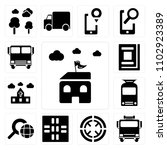 set of 13 icons such as hall ...