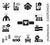 set of 13 icons such as fitness ...