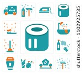 set of 13 icons such as toilet...