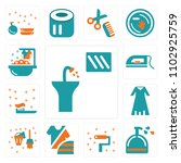 set of 13 icons such as sink ...