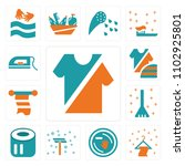 set of 13 icons such as clothes ...