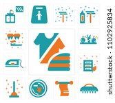 set of 13 icons such as fashion ...