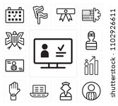 set of 13 icons such as ballot  ...