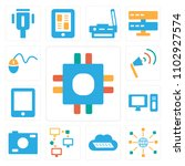 set of 13 icons such as cpu ...