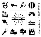set of 13 icons such as...