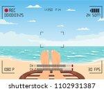 camera record vector in mobile... | Shutterstock .eps vector #1102931387
