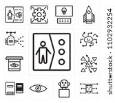 set of 13 icons such as clone ... | Shutterstock .eps vector #1102932254