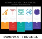 5 vector icons such as gdp  no... | Shutterstock .eps vector #1102933037