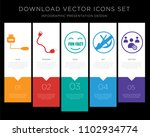 5 vector icons such as mini... | Shutterstock .eps vector #1102934774