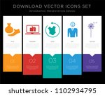 5 vector icons such as... | Shutterstock .eps vector #1102934795