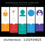 5 vector icons such as... | Shutterstock .eps vector #1102934825